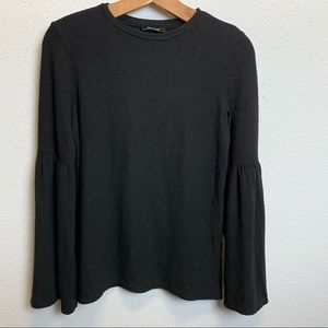Zara small black sweater with bell sleeves